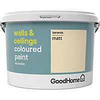 GoodHome Walls & ceilings Toronto Matt Emulsion paint, 2.5L