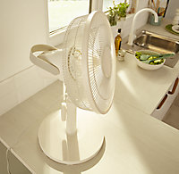 "GoodHome White 14"" 40W Blow Table fan"