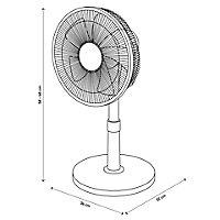 """GoodHome White 14"""" 40W Table fan"""
