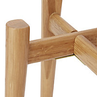 GoodHome Wood Pot stand