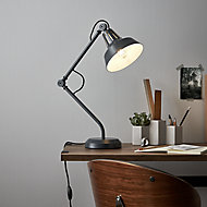 GoodHome Yarra Matt Black Table light