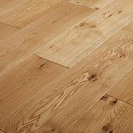 GoodHome Ystad Natural Oak Solid wood Flooring, 1.44m² Set
