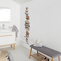 GoodHome Zinia Beige & light grey Zen Matt Mural
