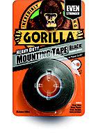Gorilla Black Double-sided Tape (L)1.5m (W)25.4mm