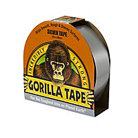 Gorilla Silver effect Duct Tape (L)32m (W)50mm