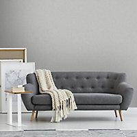Graham & Brown Boutique Chenille Silver effect Textured Wallpaper