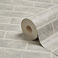 Graham & Brown Contour Grey Brick effect Blown Wallpaper