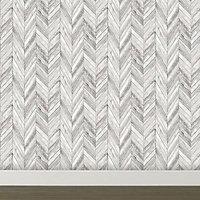Graham & Brown Fresco Grey Herringbone Smooth Wallpaper
