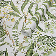 Graham & Brown Superfresco Easy Green Leaves Smooth Wallpaper