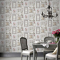 Graham & Brown Superfresco Emphoria White Butterfly Smooth Wallpaper