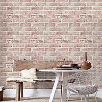 Graham & Brown Superfresco Red Brick Embossed Wallpaper