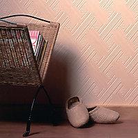 Graham & Brown Superfresco White Diagonal fan Textured Wallpaper