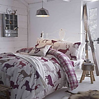 Grampion Stag Mulberry King size Bedset