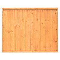 Grange Closeboard Vertical slat Fence panel 1.83m 1.5m, Pack of 4