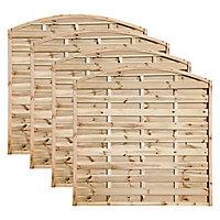 Grange Elite Horizontal slat Fence panel 1.8m 1.8m, Pack of 4