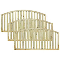 Grange Gawsworth Slatted Fence panel (W)1.8m (H)0.9m, Pack of 3