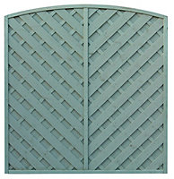 Grange St Lunair Diagonal slat Fence panel 1.8m 1.8m, Pack of 10