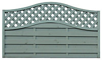 Grange Woodberry Horizontal slat Fence panel 1.8m 1.05m, Pack of 5