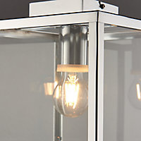 Grantson Brushed chrome effect Bathroom Ceiling light