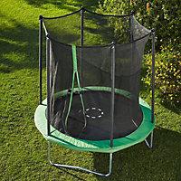 Green 8ft Trampoline & enclosure