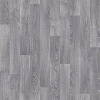Grey Oak effect Vinyl flooring, 4m²