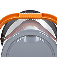 Grey & orange Plastic 16L Bucket