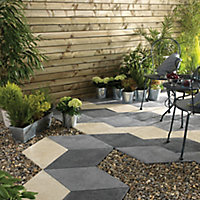 Grey Paving slab, Pack of 32