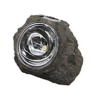 Grey Solar-powered Integrated LED Outdoor Decorative light