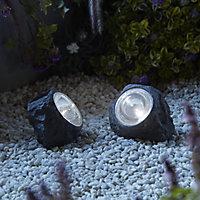 Grey Solar-powered LED Outdoor Decorative light