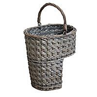Grey Wicker Basket (H)380mm (W)320mm