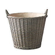 Grey Wood Non-foldable Storage basket (W)500mm
