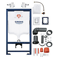 Grohe Euro Contemporary Wall hung Rimless Standard Toilet & cistern with Soft close seat