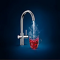 Grohe Red Duo Chrome effect Chrome-plated Water boiler tap