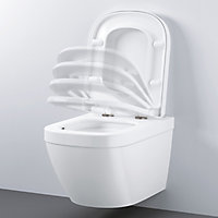 Grohe Solido Contemporary Wall hung Rimless Standard Toilet & cistern with Soft close seat