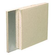 Gyproc Duplex Square edge Plasterboard, (L)2.4m (W)1.2m (T)12.5mm