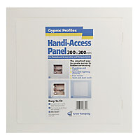 Gyproc Profilex White Plastic Access panel, (H)300mm (W)300mm