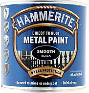 Hammerite Black Gloss Metal paint, 0.25L