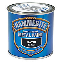 Hammerite Black Satin Metal paint, 250ml
