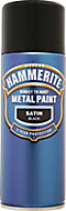 Hammerite Black Satin Metal paint, 400ml