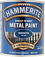 Hammerite Blue Gloss Metal paint, 750ml