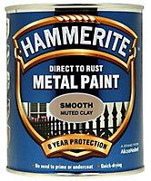 Hammerite Muted clay Gloss Metal paint, 750ml