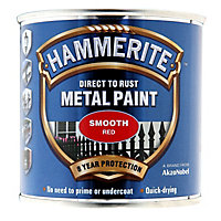 Hammerite Red Gloss Metal paint, 0.25L