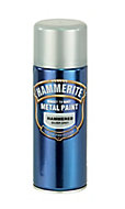 Hammerite Silver grey Hammered effect Spray paint, 400ml
