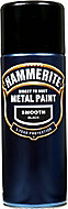 Hammerite Smoothrite Black Gloss Spray paint, 400ml