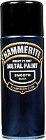 Hammerite Smoothrite Black Gloss Spray paint, 400ml