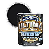 Hammerite Ultima Black Gloss Metal paint, 750ml