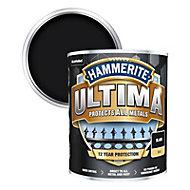Hammerite Ultima Black Matt Metal paint, 750ml