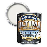 Hammerite Ultima White Matt Metal paint, 750ml