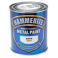 Hammerite White Satin Metal paint, 750ml