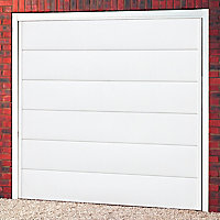 Hampshire Made to measure Framed White Retractable Garage door